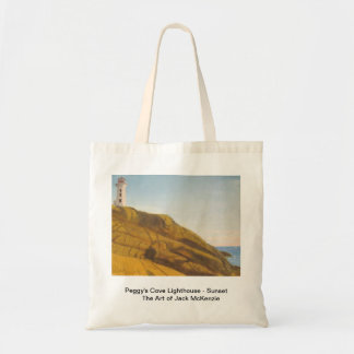 Peggys Cove Lighthouse - Sunset Tote Bag