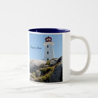 Peggy's Cove Lighthouse Two-Tone Coffee Mug