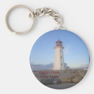 Peggy's Cove, Nova Scotia Basic Round Button Keychain