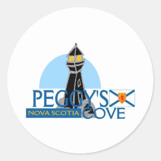 Peggy's Cove Nova Scotia Classic Round Sticker