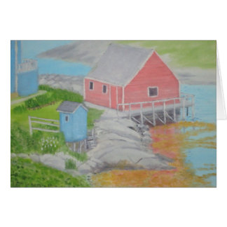 Peggy's Cove Outhouse Greeting Card