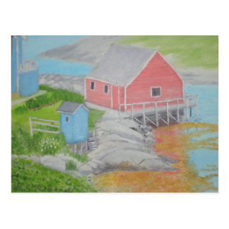 Peggy's Cove Outhouse Postcard