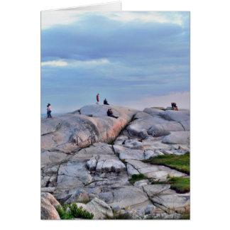 Peggys Cove Rocks Greeting Cards