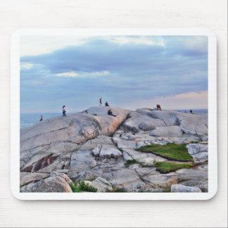 Peggys Cove Rocks Mouse Pad