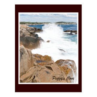 Peggy's Cove Wave Postcard