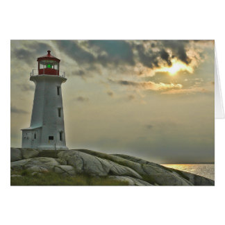 Peggy's Point Lighthouse Greeting Card