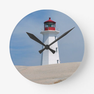 Peggy's Point Lighthouse Round Wallclock