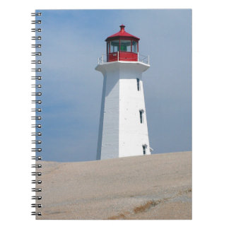 Peggy's Point Lighthouse Spiral Note Books