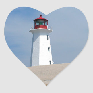 Peggy's Point Lighthouse Heart Sticker