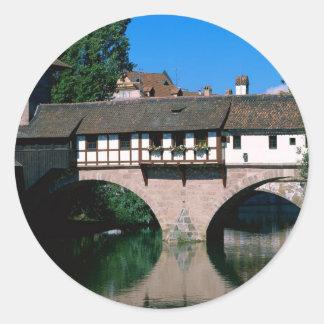 Pegnitz River , Germany Classic Round Sticker
