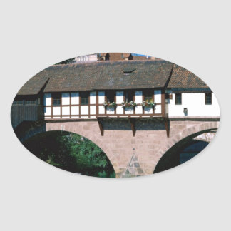 Pegnitz River , Germany Oval Sticker