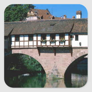 Pegnitz River , Germany Square Sticker