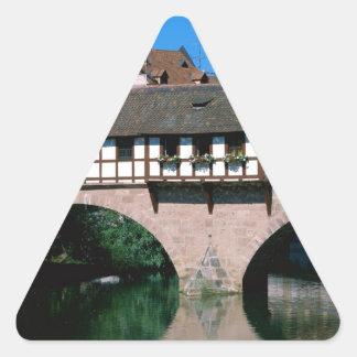 Pegnitz River , Germany Triangle Sticker