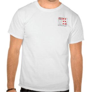 Pegout real de los hombres camisetas