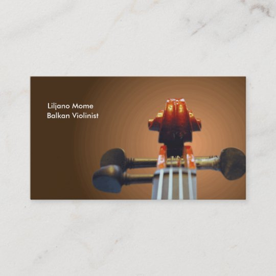 Pegs and Scroll Violin Business Cards Template | Zazzle.com