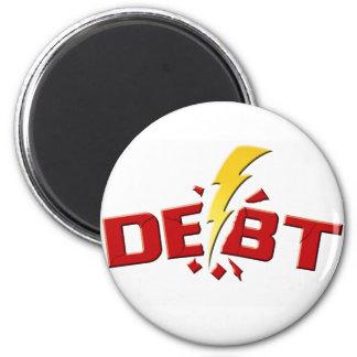Pegue abajo la deuda imán redondo 5 cm