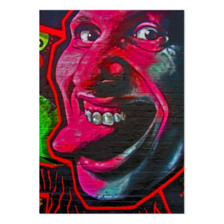 Pegue hacia fuera la lengua, galería de la zona tarjetas de visita grandes