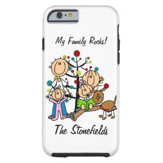 Pegue la figura papá, mamá, dos chicas, iPhone 6 Funda Resistente iPhone 6