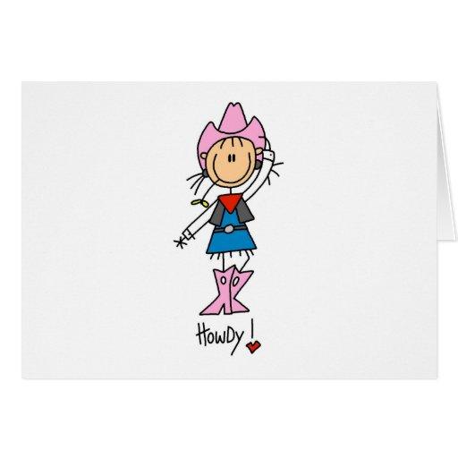 Pegue la figura vaquera en tarjetas rosadas del go