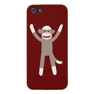 Pegue las manos del mono encima de la caja roja de iPhone 5 cárcasa