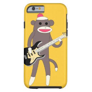 Pegue las rocas del mono con la guitarra eléctrica
