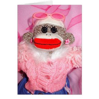 Pegue los monos para la tarjeta de Lorena de los a