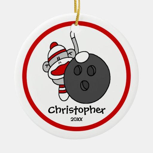 Pegue ornamento del navidad de s del muchacho de adorno navideño redondo de cerámica
