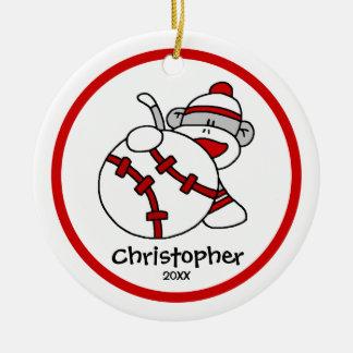 Pegue ornamento del navidad de s del muchacho del  adorno de navidad