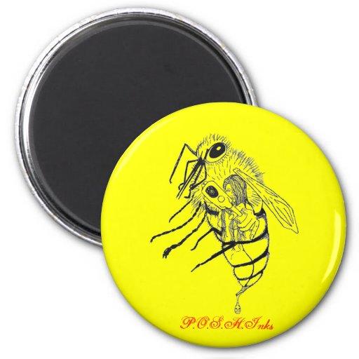 Pegue para arriba las vueltas de la abeja de Bella Imán De Nevera