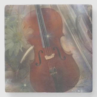 Pegue un acorde con este diseño musical hermoso posavasos de piedra