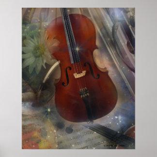 Pegue un acorde con este diseño musical hermoso póster