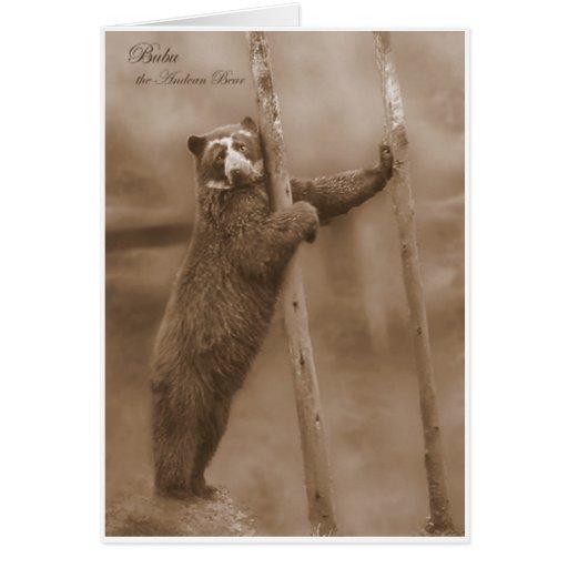 Pegue una actitud - Bubu, notecard de la sepia Tarjeta Pequeña