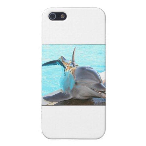 Pegue una actitud (la foto del delfín) iPhone 5 funda