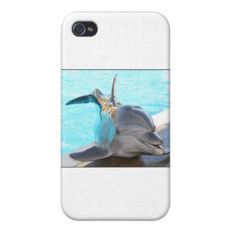 Pegue una actitud (la foto del delfín) iPhone 4/4S funda