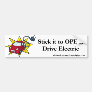 ¡Pegúelo a la OPEP! Impulsión eléctrica - pegatina Pegatina Para Auto