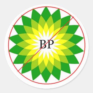 PEGÚELO AL BOICOTEO AMBIENTAL BP DEL ~ DE LOS ETIQUETA REDONDA