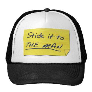 ¡Pegúelo al hombre! Gorras De Camionero