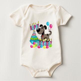 PEGUI Pups Happy Birthday - Pauper Baby Bodysuit
