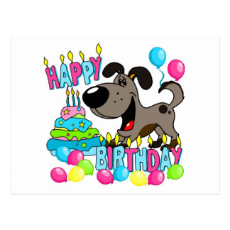PEGUI Pups Happy Birthday - Pauper Postcard