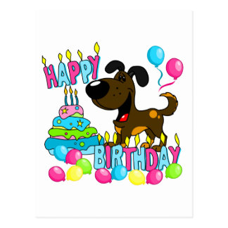 PEGUI Pups Happy Birthday - Toffee Postcard