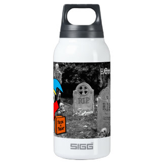 Peguin in Jester Costume Trick or Treat 10 Oz Insulated SIGG Thermos Water Bottle
