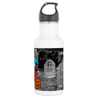 Peguin in Jester Costume Trick or Treat 18oz Water Bottle