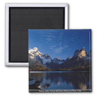 Pehoe Lake, Torres del Paine National Park, Chile 2 Inch Square Magnet