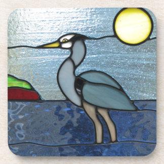 PEI Blue Heron Beverage Coaster