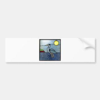 PEI Blue Heron Bumper Sticker