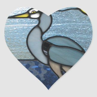 PEI Blue Heron Heart Sticker
