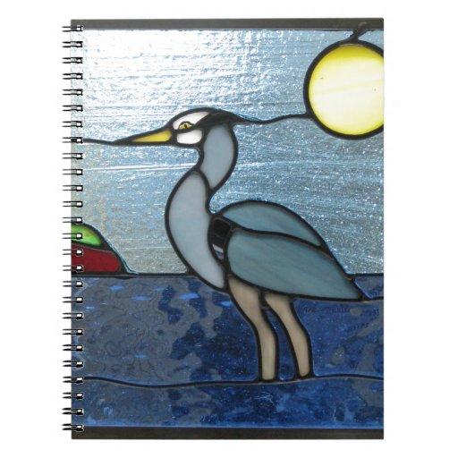 PEI Blue Heron Spiral Notebooks