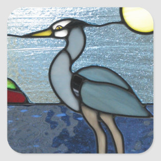PEI Blue Heron Square Sticker