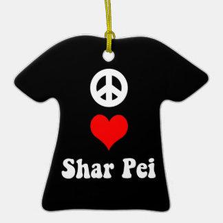pei shar del amor de la paz ornamentos para reyes magos