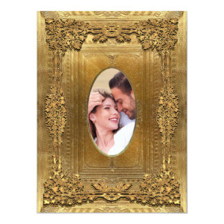 "Peiffer Formal  Photo Wedding  6.5 x 8.75"" Card"